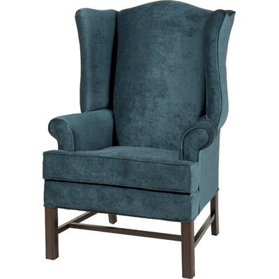 Wayne Chippendale Wingback Chair Upholstery: Ocean