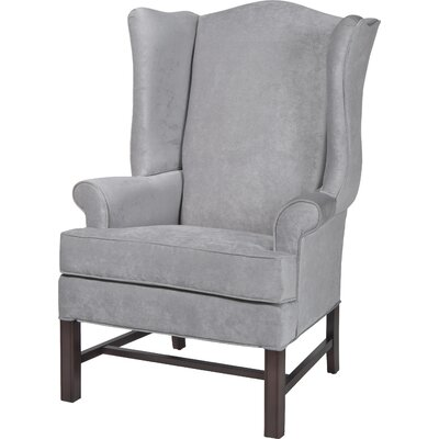 Wayne Chippendale Wingback Chair Upholstery: Silver