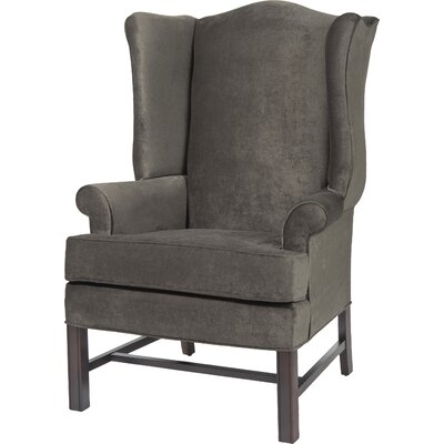 Wayne Chippendale Wingback Chair Upholstery: Ash