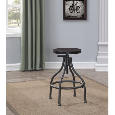Allen Adjustable Height Swivel Bar Stool