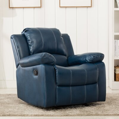 Daisy Traditional Glider Recliner Color: Navy Blue