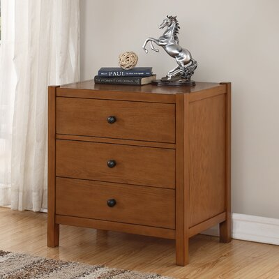 Woart 3 Drawer Nightstand