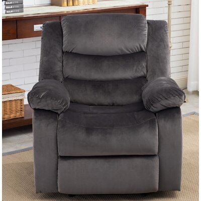 Bismarck Manual Recliner Upholstery: Charcoal