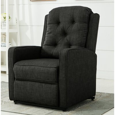 Paxton Power Lift Assist Recliner Color: Charcoal