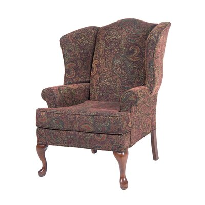 Bayridge Wingback Chair Upholstery: Cranberry