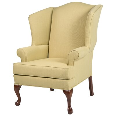 Al Maha Wingback Chair Upholstery: Yellow