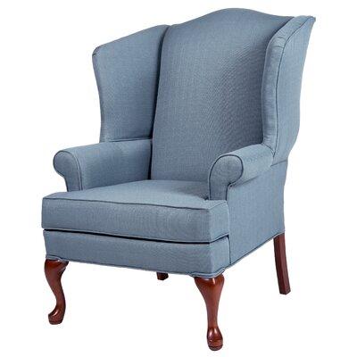 Al Maha Wingback Chair Upholstery: Blue