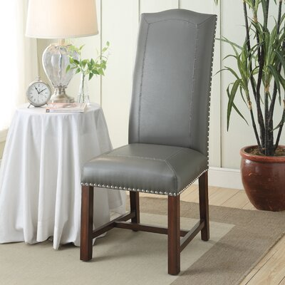 Nailhead Trim Parsons Chair (Set of 2)