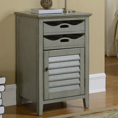 Magruder 1 Door 2 Drawer Cabinet Finish: Gray