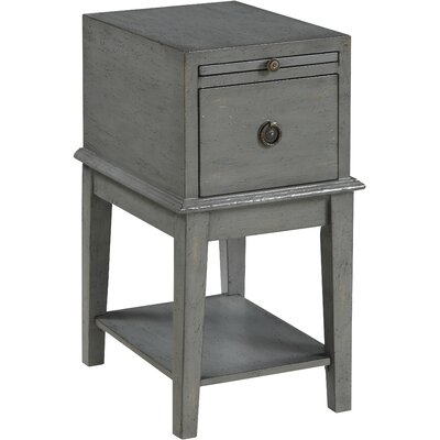 Philippine End Table With Storage Color: Grey