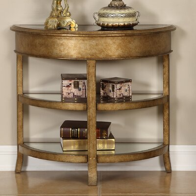 Hali Round Bevel Console Table