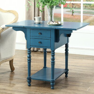 Jaune End Table Color: Blue