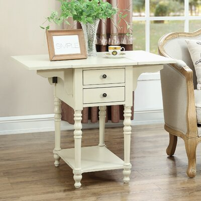 Jaune End Table Color: Cream