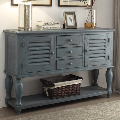 Moreno Console Table Finish: Blue