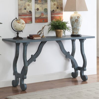 Console Table Finish: Blue