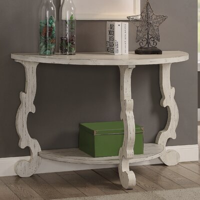 Demilune Console Table Finish: White