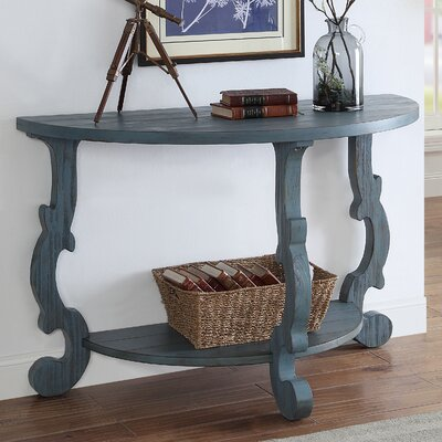 Cranston Console Table Finish: Blue