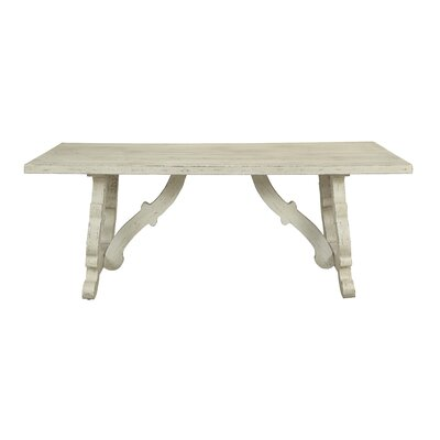Nash Dining Table Color: White