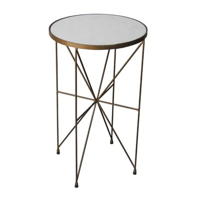Czapla Marble Top End Table