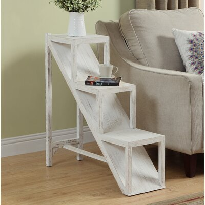 Scarlette Stair Step Side End Table Color: Brown