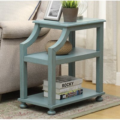 Tolya End Table Color: Lilith Blue