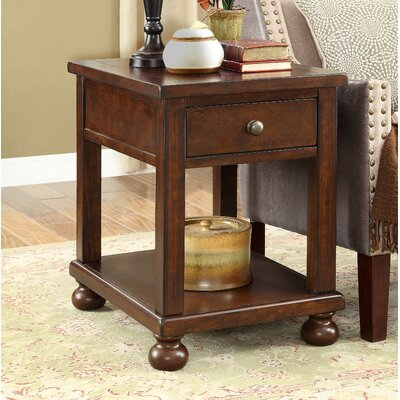 Stenya End Table with Storage