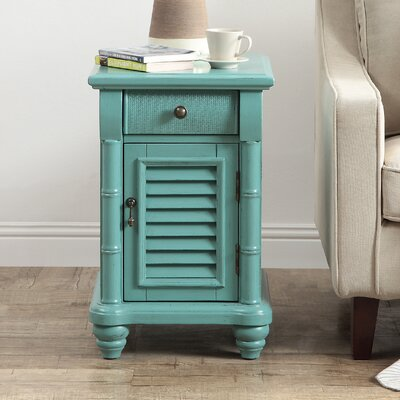 Gannet 1 Door 1 Drawer End Table Color: Bayberry Blue
