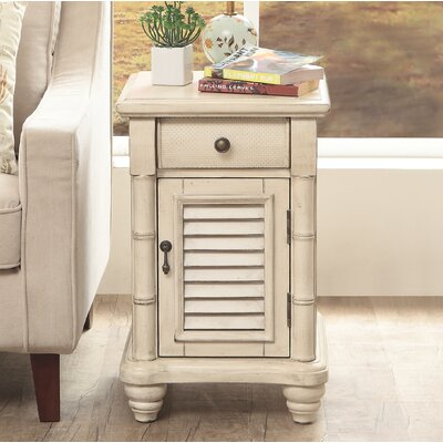 Gannet 1 Door 1 Drawer End Table Color: Cream