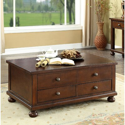Stenya 2 Drawer Lift Top Coffee Table