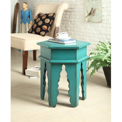 Rent End Table Finish: Teal Green...