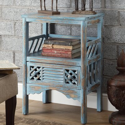 Distressed End Table