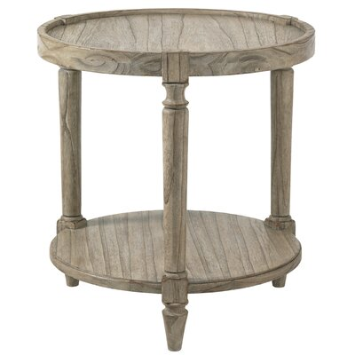 Twilight Bay Phoebe Tray Table Color: Distressed Textured Soft Taupe Gray