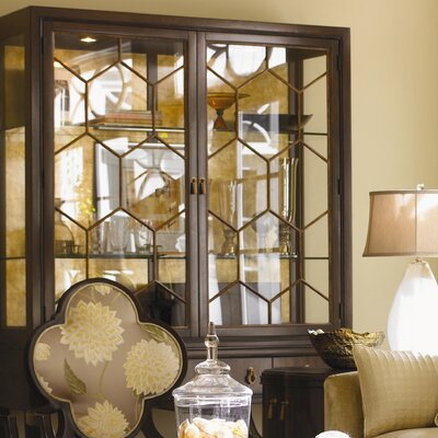 St. Tropez Belfort China Cabinet in Rich Brown Calais