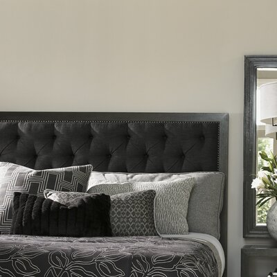 Carrera Upholstered Panel Headboard Size: King