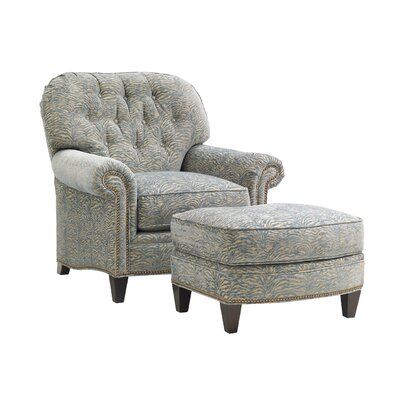 Oyster Bay Bayville Armchair and Ottoman