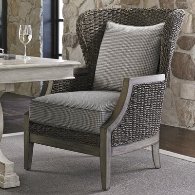 Oyster Bay Seaford Wingback Chair Upholstery: Gray Plaid