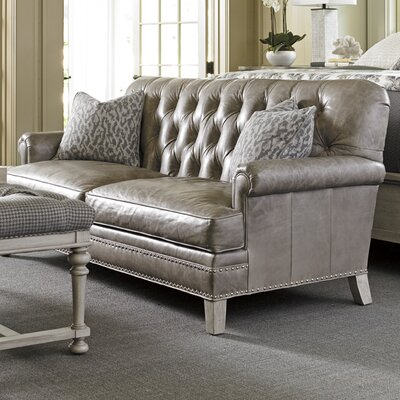 Oyster Bay Hillstead Leather Sofa Upholstery: Gray