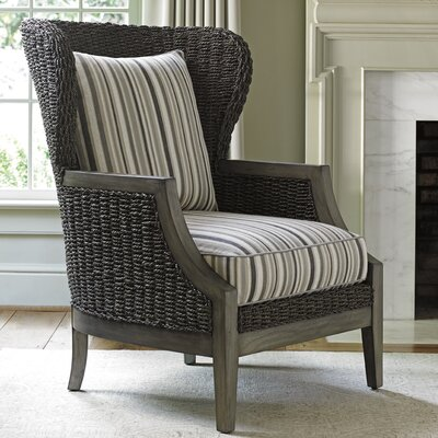 Oyster Bay Seaford Wingback Chair Upholstery: Multi Striped