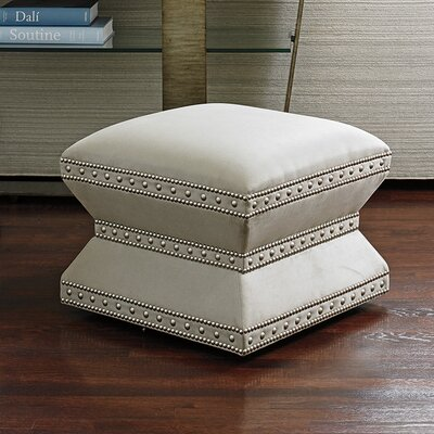 Laurel Canyon Wheatley Leather Ottoman Upholstery: Gray