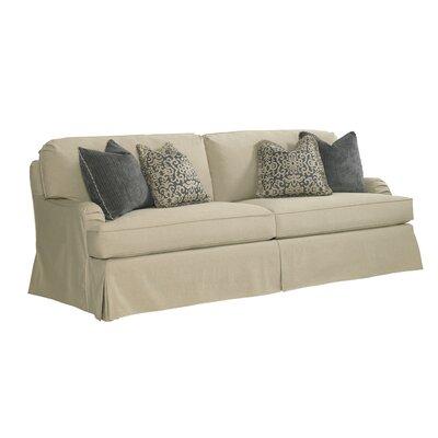 Coventry Hills Stowe Slipcover Sofa Upholstery: Khaki