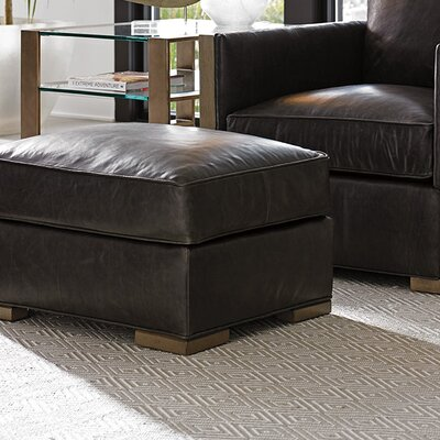 Shadow Play Delshire Leather Ottoman