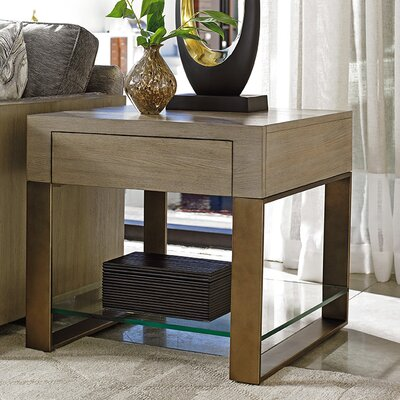 Shadow Play Empire End Table with Storage