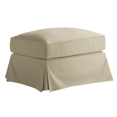 Coventry Hills Pouf Ottoman Upholstery: Khaki
