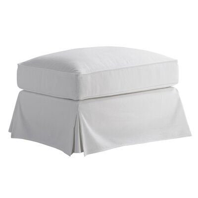 Coventry Hills Pouf Ottoman Upholstery: White