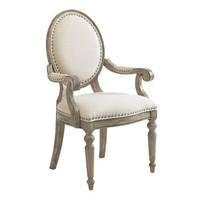 Twilight Bay Byerly Arm Chair Finish: Soft Taupe Gray