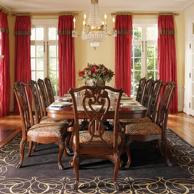 Lexington regents row 11 piece dining table set in for 11 piece dining table set