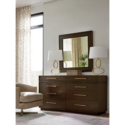 Zavala 8 Drawer Double Dresser with Mirror