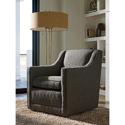 Zavala Barrier Hourglass Pattern Swivel Armchair