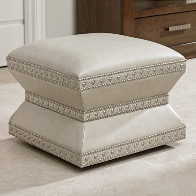 Laurel Canyon Wheatley Leather Ottoman Upholstery: Ivory