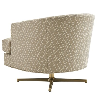 Zavala Graves Geometric Swivel Armchair